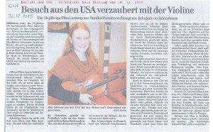 Elisa Laraway - GNZ-Bericht