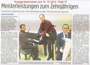 Konzertbericht KN Okt 2014